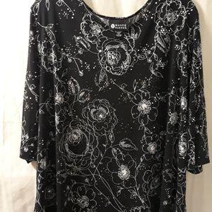 Maggie Barnes plus size 2X black blouse